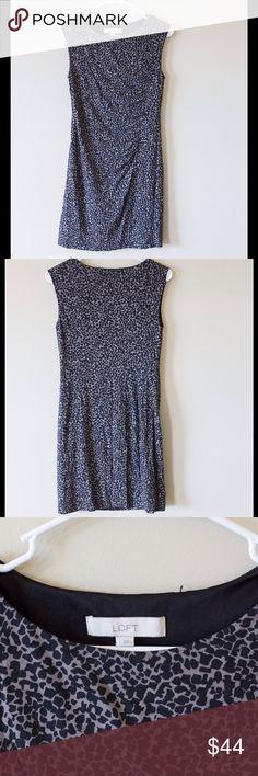 LOFT cheetah print dress LOFT cheetah print side cinch dress. No damage, body 70% rayon shell 100% polyester LOFT Dresses