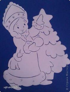 Картина панно рисунок Новый год Вырезание новый год Бумага фото 3