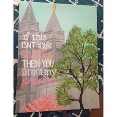 Painted this one for the Young Women's room at church. (It's a Mormon thing) if you'd like one just like it, 24x30in (it's big), $60. And $30 on an 11x14in  #temple #saltlake #lds #mormon #embark #byui
