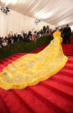 "Rihanna in Guo Pei. Met Ball 2015 ""China: Through The Looking Glass"" Costume Institute Benefit Gala"