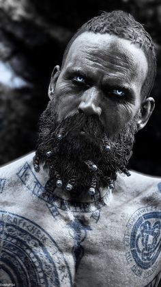 Baldur The Stranger Norse Mythology, Greek Mythology, War Tattoo, Kratos God Of War, Thor, Viking Tattoos, Character Portraits, Video Game Art, Celtic
