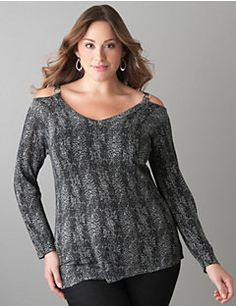 Shimmering python print sweater
