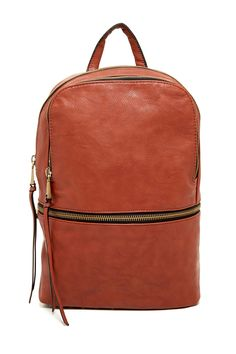 Co-Lab Zip Backpack by Christopher Kon Jeweled Shoes, Stylish Backpacks, Casual Bags, Mode Style, Tan Leather, Passion For Fashion, Leather Backpack, Purses And Bags, Burberry