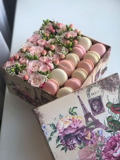 Flower Box Gift, Flower Boxes, Gift Flowers, Diy Bouquet, Candy Bouquet, Homemade Gifts, Diy Gifts, Rosen Box, Edible Bouquets