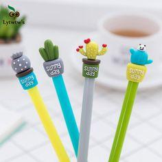 Kawaii Plastic Ink Korean cute Creative Gel Pen cactus Neutral Pens For School Writing Office Supplies Pen Cute Stationery. Product ID: Korean Stationery, Kawaii Stationery, School Stationery, Stationary School, Stationery Pens, Cute School Supplies, Office And School Supplies, School Office, School Tool