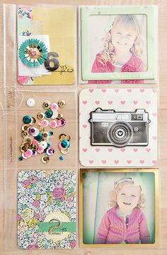Page by Maggie Holmes featuring the Maggie Holmes Flea Market Mini Kit