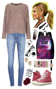 """""""Untitled #886"""" by white-eskimofo ❤ liked on Polyvore featuring Cheap Monday, Topshop, Converse, JanSport, NARS Cosmetics, Burberry, CB2, Kate Spade, Barbour and Casetify"""