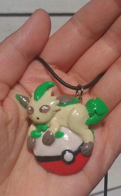 Leafeon+Pokemon+Pendant+by+squidhop+on+Etsy,+$30.00