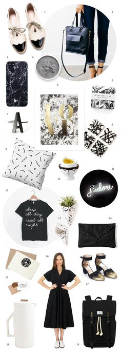 @missmossblog assembled quite the roundup of black and white #etsyfinds. (Our favorites list just got a whole lot more monochromatic.)