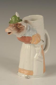 SCHAFER & VATER COLOR MILK MAID COW PITCHER :