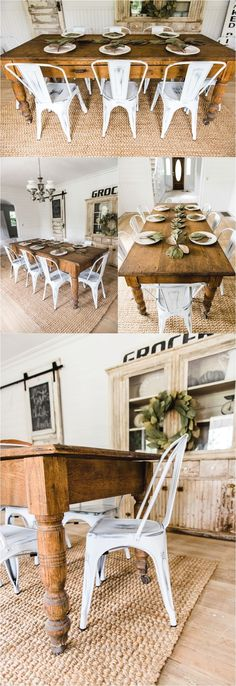 Nice White Farmhouse Metal Chairs Dining Room Decor By Liz Marie Blog Farmhous