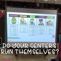 Manage your centers with ease! Create an environment where your students can easily manage their time with visual or countdown timers. Students can work independently and you can focus on teaching your small groups! Centers have never been easier!