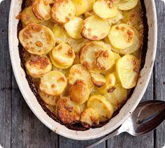 Potato Gratin with Gruyere and Garlic at www.annabel-langbein.com