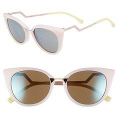 Fendi 52mm Cat Eye Sunglasses (9 915 UAH) ❤ liked on Polyvore
