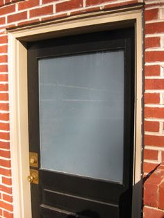 another frosted window treatment.  cheaper and less labor intensive...