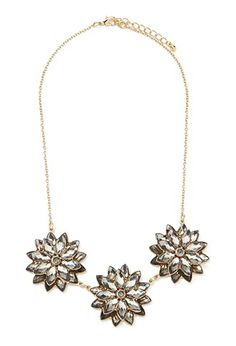 Make a statement without saying a word in this Flower Statement Necklace from Forever 21.  It brings the Bling to Fall!