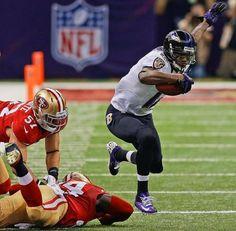 Baltimore Ravens wide receiver Jacoby Jones Francisco 49ers running back Anthony Dixon NFL Super Bowl XLVII