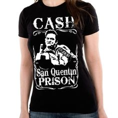 Exclusive - JOHNNY CASH Girls Wear - SAN QUENTIN PRISON - Girls Wear - JOHNNY CASH - Labyrinthe Rock