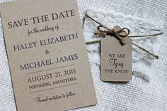 Lace Wedding Save the Date Save the Dates Rustic by LoveofCreating
