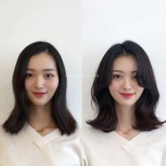 Pin on 헤어스타일 Pin on 헤어스타일 Korean Hairstyles Women, Girl Hairstyles, Pelo Guay, Medium Hair Styles, Short Hair Styles, Langer Bob, Mid Length Hair, Hair Reference, Tips Belleza