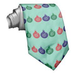 Christmas Baubles Custom Tie #Christmas #Baubles #Tie #Necktie