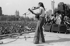 Joan Baez at the War is Over Rally in Central Park 1975