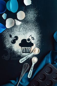 Baking recipe: cherry muffin by Dina Belenko on 500px