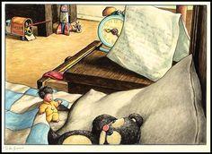 Let's imagine we were tiny. Teeny tiny. Illo by William Joyce