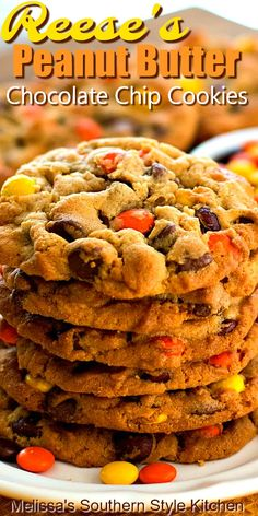 Köstliche Desserts, Delicious Desserts, Dessert Recipes, Breakfast Recipes, Reese's Pieces Cookies, Baking Recipes, Cookie Recipes, Reeses Pieces Cookie Recipe, Nutella Recipes