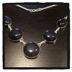 New🍒🍒Rare Dark Blue Sandstone Necklace New🍒🍒Sterling Silver 925 Dark Blue Sandstone Necklace 💥💥Sparkling💥💥 It brings courage, confidence and willpower & boost vitality and energy. Jewelry Necklaces