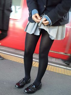 🍇制服🍇JK🍇 Pantyhose Outfits, Tights Outfit, Silk Stockings, Black Stockings, Black Tights, Black Jeans, Geek Chic Outfits, Black Women Fashion, Womens Fashion