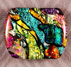 neon fused dichroic glass