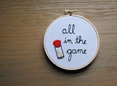 What Omar from The Wire said, embroidered.