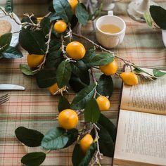 "Artificial Lemon Stem 39"" Tall – RusticReach Metal Hanging Planters, Yellow Plants, Artificial Flowers, Color Mixing, Lemon, Vegetables, Fruit, Green, Ships"