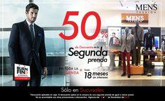 Arriésgate a llevar un estilo diferente. Descubre las grandes rebajas al llevarte la segunda prenda con el 50% OFF en sucursal. #BuenFin   Localiza tu sucursal: www.mensfashion.com.mx
