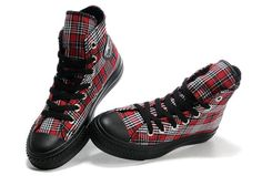 Plaid Chucks #converse #chucktaylor #hightops