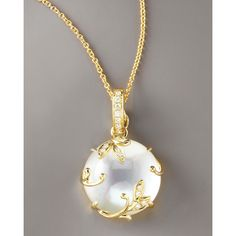 Frederic Sage Jelly Vine Mother-of-Pearl Pendant Necklace found on Polyvore