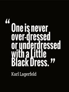Karl Lagerfeld ... #Little_Black_Dress