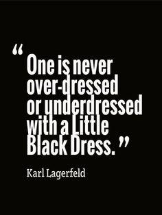 Karl Lagerfeld ... #Little_Black_Dress