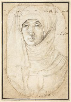 the Elder  Portrait of a Woman, by Hans Holbein, 1508