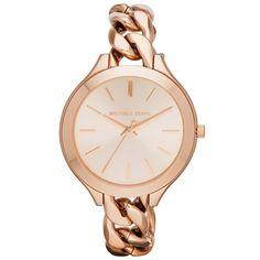 Michael Kors Women's MK3223 'Runway' Rose Gold-Plated Stainless Steel Watch | Overstock.com Shopping - The Best Deals on Michael Kors Women's Watches