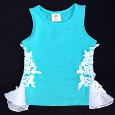 Turquoise Lace Tank