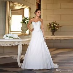 Let charming cheap ball gown wedding dresses on DHgate.com get your heart. Besides, corset for wedding dress and couture wedding dress are also winners. beaded cheap stock chiffon beach china ball gown elegant backless bridal dress plus size 2017 a line wedding dresses belong to you and lj888 can cheer you up.