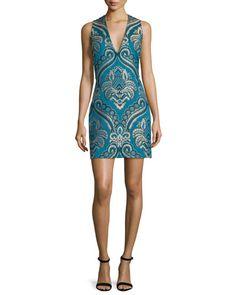 TCRG4 Alice + Olivia Natalee Paisley Sleeveless Sheath Dress