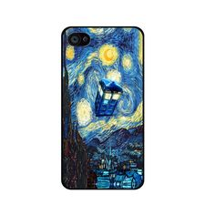 Starry night doctor who iPhone 4 Case iPhone 5/ 5s/ 5c ipod touch 4 5 Case Samsung Galaxy S2 I9100 S3 S4 case note 2 3 hard case cover on Etsy, $6.99