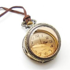 Tea leather rope retro pocket watches
