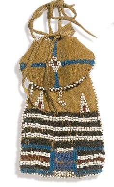 Ute pony-beaded pouch.  Sotheby Auction.  ac