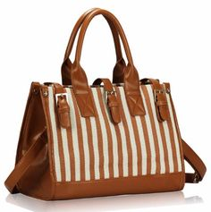 Ladies Brown Stripes Woven Design Shoulder Long Strap Vintage Handbag - KCMODE KCMODE, HANDBAGS if you wish to buy just CLICK on AMAZON right HERE http://www.amazon.com/dp/B00BFWLPN8/ref=cm_sw_r_pi_dp_C3lZsb1P4VHGV8EG