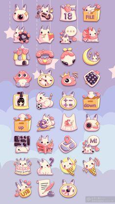 花瓣网-The Rabbit Dream Game Ui Design, Icon Design, Rabbit Icon, Game Gui, Arts And Crafts, Diy Crafts, Hello Kitty, Kawaii, Cartoon