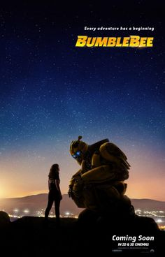 Paramount recently dropped an awesome new poster for their upcoming Transformers spinoff Bumblebee. The poster shows off the titular Autobot and his human friend, played by Hailee Steinfeld, Charlie Watson. Streaming Vf, Streaming Movies, 2018 Movies, Movies Online, Bee Movie, Movie Tv, Optimus Prime, Kino News, Imitation Game